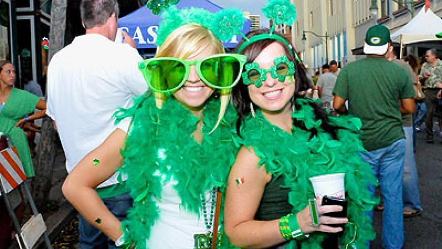 Opt for green on St Patrick's Day. Net photo.