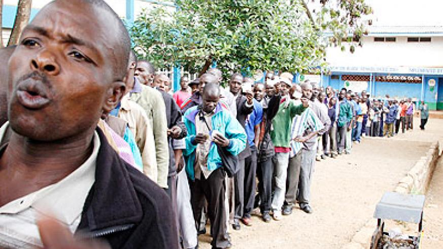 Kenyans queued for hours to vote, now they are counting days for results.  The New Times/ Net.