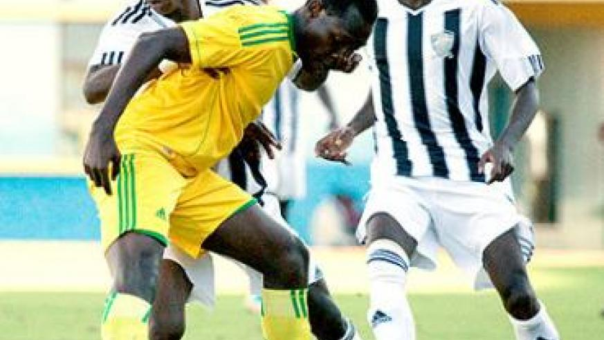 Michelle Rusheshangoga (left), seen here in action against AS Kigali in a previous league match, is doubtful for APR's clash with Rayon on Saturday. Times Sport / File.