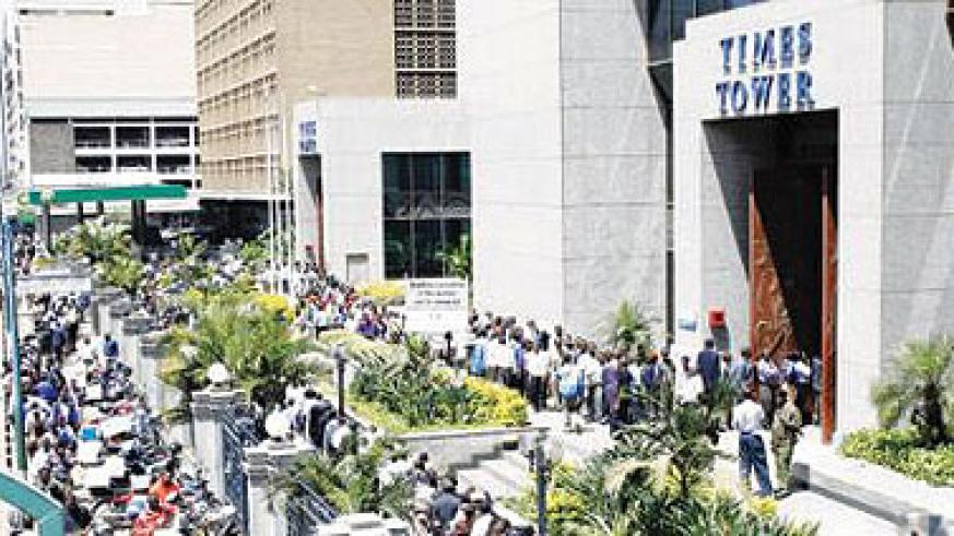 <p>Tax-payers line up outside the Kenya Revenue Authority offices to file their tax returns in the past. The High Court in Nairobi has suspended the decision by the Treasury to levy a ....