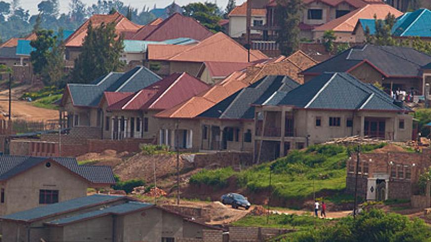 Some of the houses that  have recently been constructed in kicukiro District. The New Times/Timothy Kisambira.
