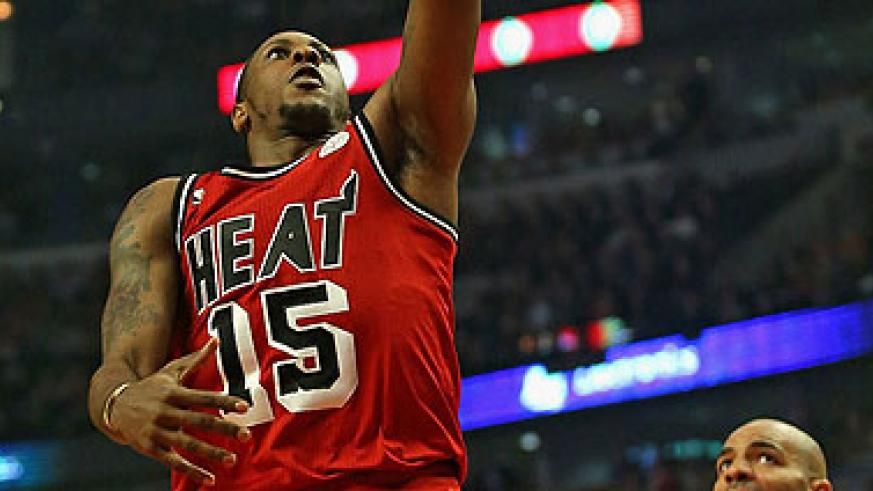 Mario Chalmers top scored with 26 points for the Heat. Net photo.
