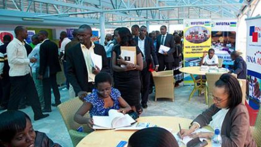 Job seekers at a previous symposium. KESC will provide important employment tips to fresh graduates, including guidance on how to conduct themselves during a job interview. The New Times/File