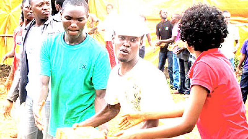 Youth in Rubavu participate in the outreach activities last weekend.  The New Times/ Courtesy.