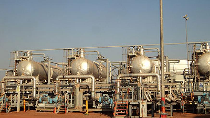 An oil refinery in South Sudan; Production is due to start soon after the two Sudans reached an agreement in Addis Ababa, Ethiopia. Net photo.