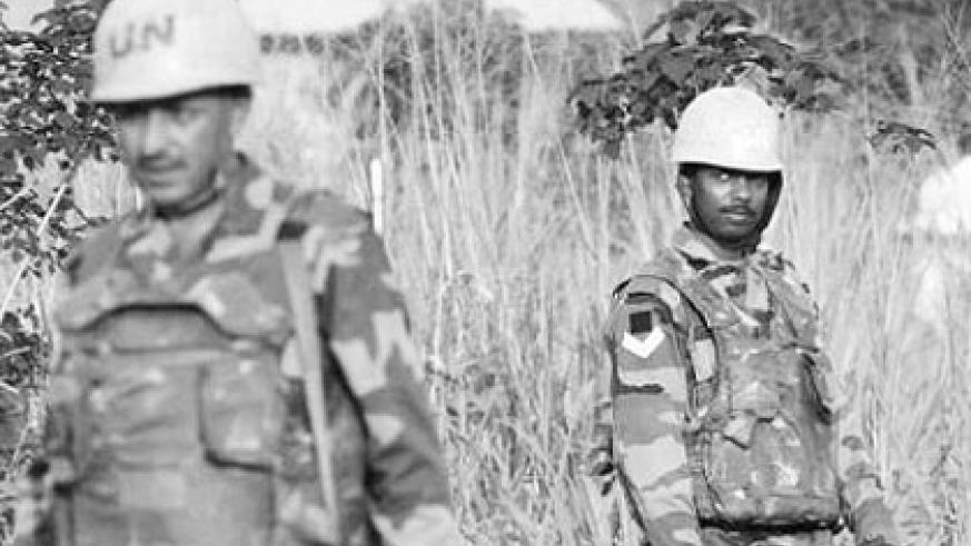 MONUSCO troops from the Indian batallion deployed in DRC. Net photo.