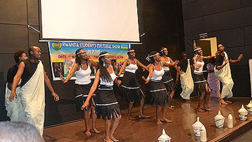 A recent event organised by the Rwanda Students Association in Pune, India, showcased the rich  Rwandan culture. The New Times / Courtesy