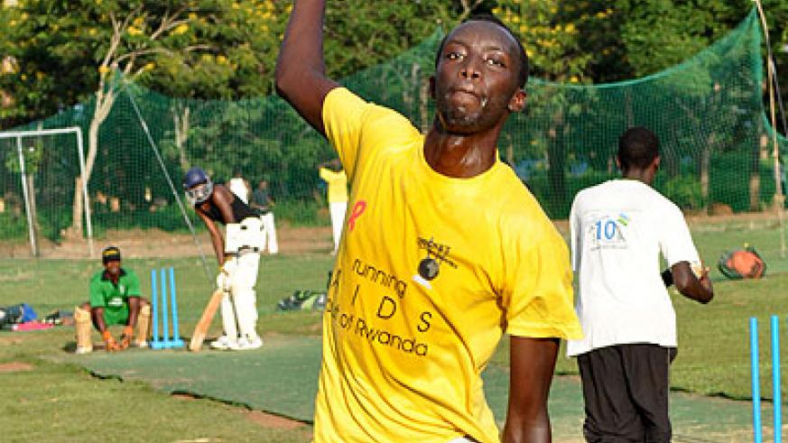 Indorwa bowler Eric Dusabemungu took three key Dugout wickets to help Challengers CC to a 10-run win on Sunday. The New Times/ File.