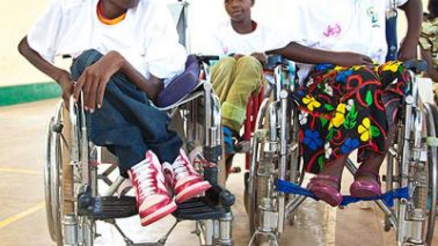 Disabled perform a skit on their rights at a recent function. The New Times/ J. Mbanda.