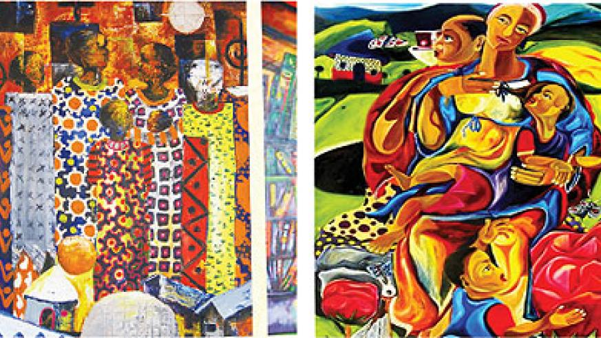 Some of the attractive pieces of art that will feature in the month-long exhibition. The New Times / Courtesy.