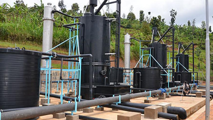 The water plants were launched on Tuesday in Nyabimata sector, Nyaruguru district. The New Times/ JP Bucyensenge