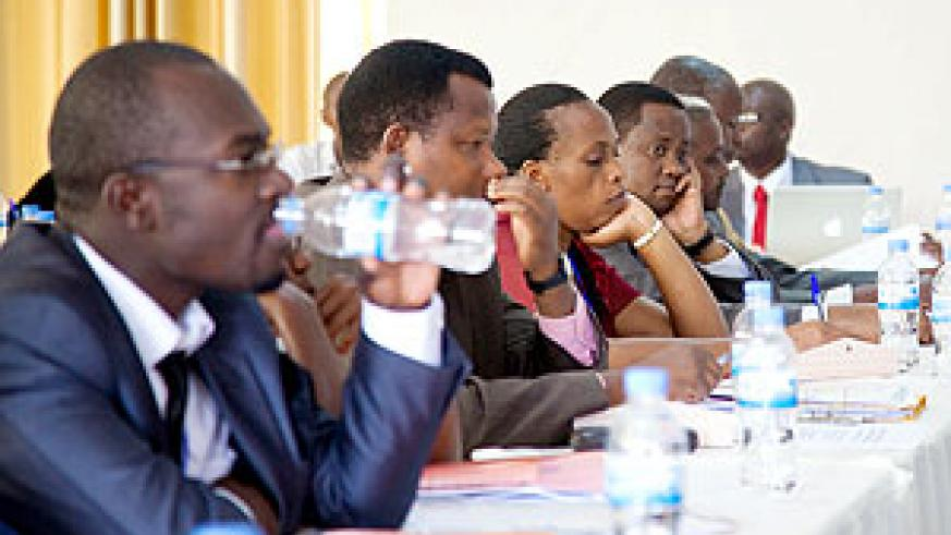 Participants during at the workshop. The New Times/T.Kisambira