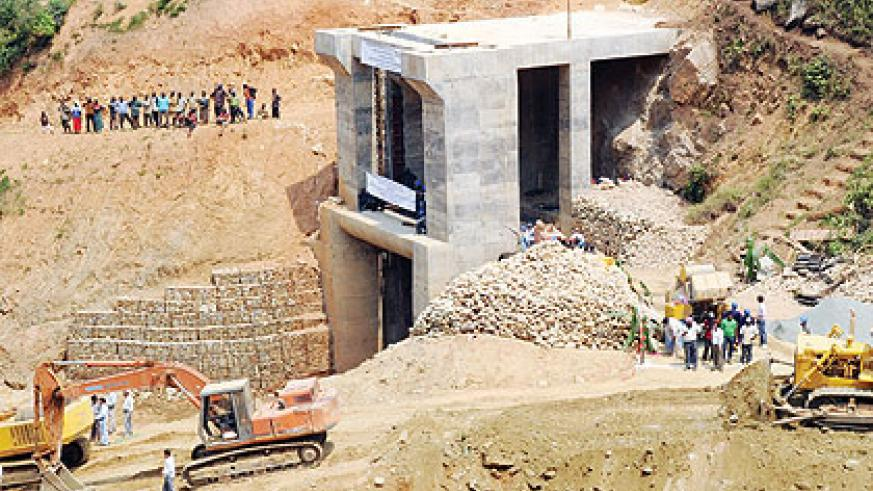 Work on Nyabarongo hydro power project. Electricity is pivotal for national development, 2012.  The New Times / File.