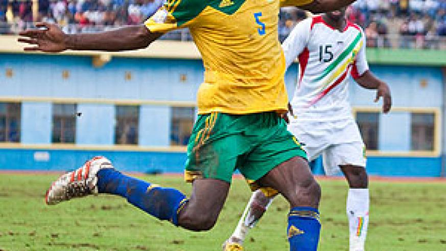 Striker Meddie Kagere's first half goal was not enough to help Rwanda resist Mali. The Eagles bounced back to register a hard-earned victory. The New Times / T. Kisambira.
