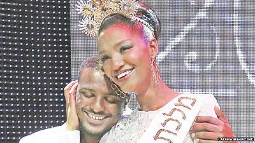 Yityish Aynaw after being crowned Miss Israel. Net photo.