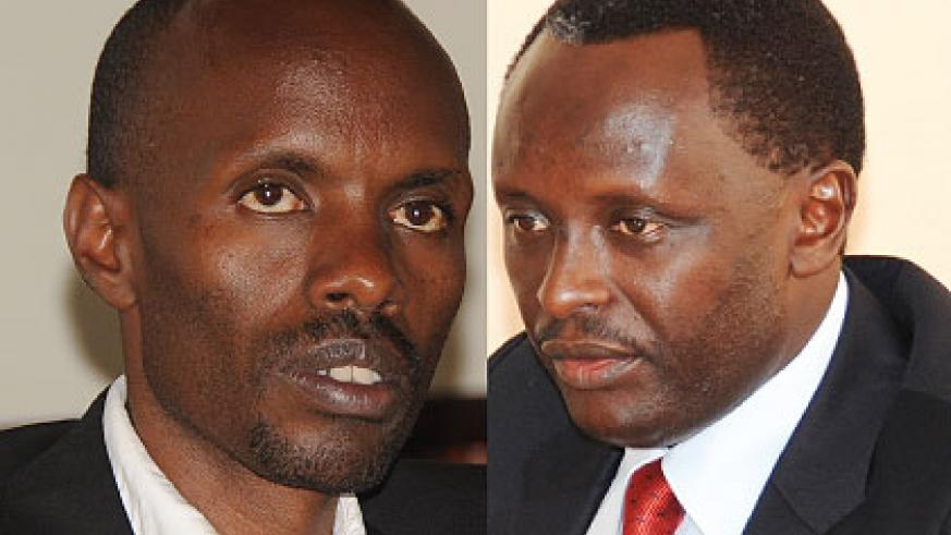 Kaliwabo (L) and Ngoga (R) have both slammed Amnesty International for interfering in Ingabire's case. The New Times/ Timothy Kisambira.