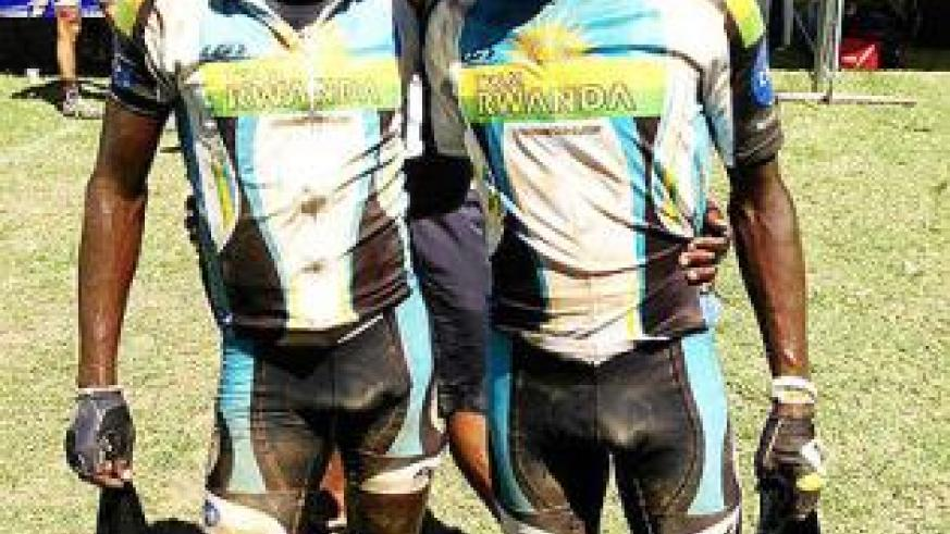 Nathan Byukusenge (left) and Hasan Rukundo (right) finished in a respectable 44th position. The New Times/ Team Rwanda.