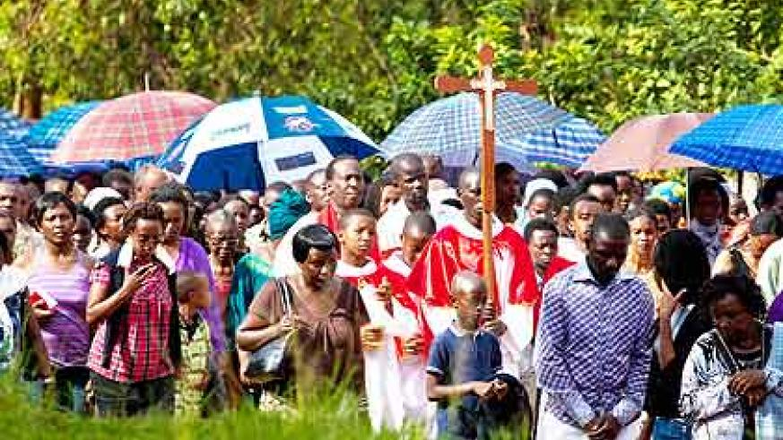 <p>Thousands of Catholics  across the country yesterday took part in Way of the Cross procession to mark the death of  Jesus Christ. Here, Catholics from  Kicukiro Parish began their m....