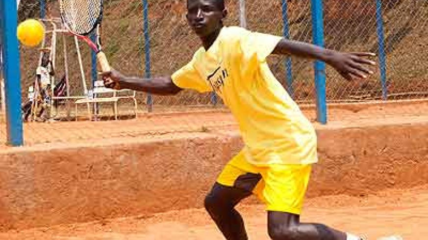Ernest Habiyambere  led Rwanda's junior team at the African tennis championships in Nairobi but his run ended at the semifinal stage. Saturday Sport/File.