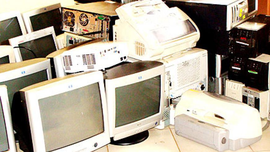 An assortment of old computers. The new policy will ensure their effective disposal.   The New Times/ Clement Uwiringiyimana
