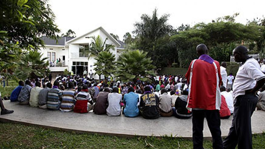 Mourners at a past Genocide commemoration event at the Kigali Genocide Memorial Centre. The New Times/ File.