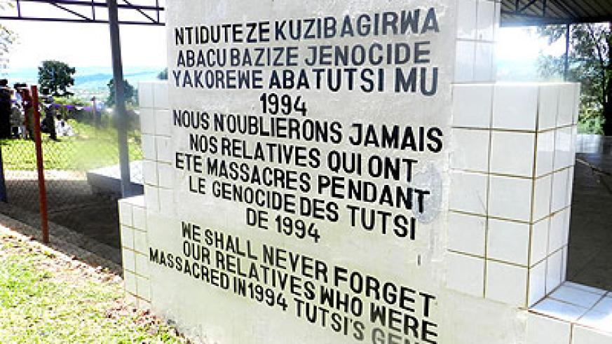 A Genocide cemetry where thousands of victims were buried. The New Times/S. Rwembeho.