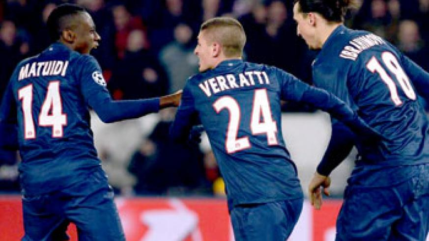 Blaise Matuidi earned PSG a draw with his goal deep into added time. Net photo.