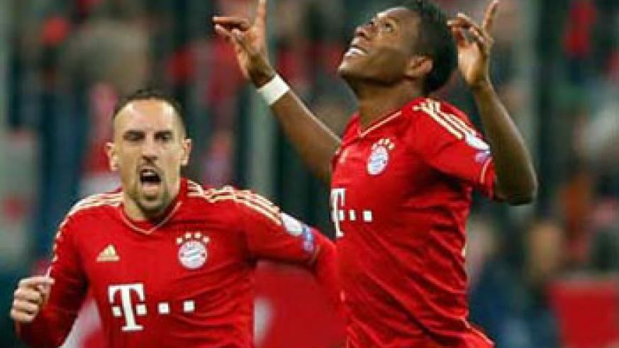Alaba scored after just 25 seconds to give Bayern the lead. Net photo.