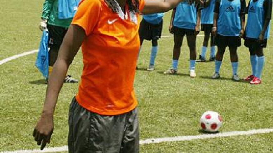 Grace Nyinawumuntu is regarded by many as Rwanda's best woman football coach. The New Times / File.