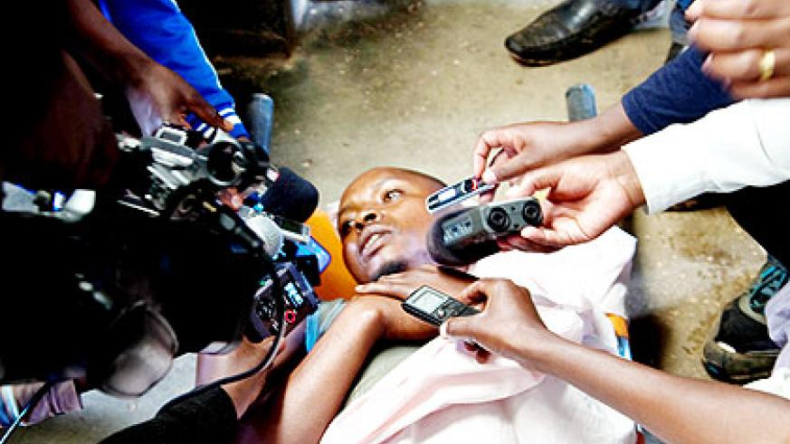 One of the FDLR rebels captured by Rwanda Defence Forces last year. The New Times/ T. Kisambira.