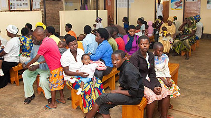 Patients at a health facility. The survey will help find out the number of Rwandans with Sickle cells. The New Times/ T. Kisambira.