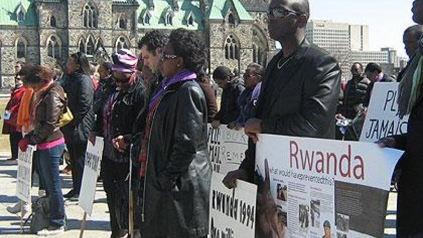 Rwandans and friends of Rwanda commemorate the Genocide in Canada. (Photo by E. Kwibuka)