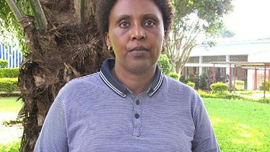 Jeannette Gahongayire, Avega-Agahozo Coordinator Eastern Province, is determined to provide homes for the widows. The New Times/S. Rwembeho.