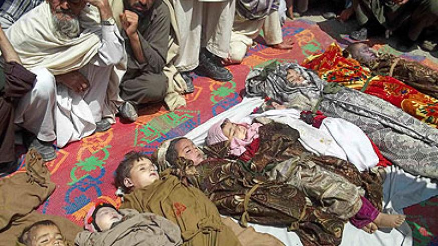 Nato has not confirmed casualties, many of them chidlren, resulting from its latest airstike in Afghanistan. Net photo.