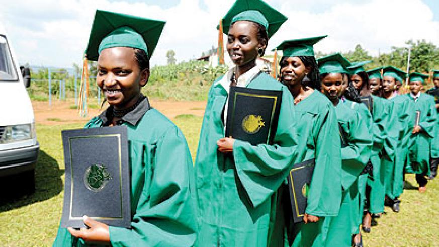Students at Agahozo Shalom village during their graduation in January.