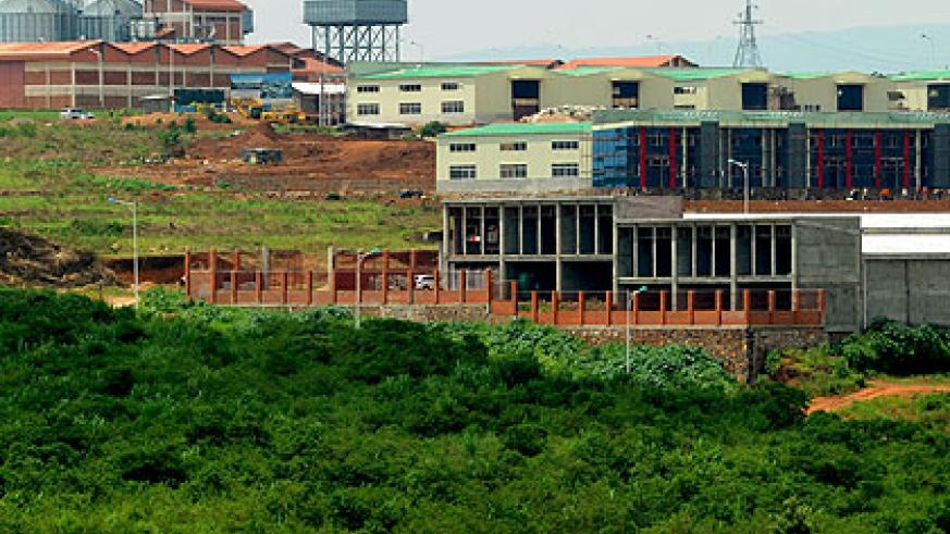Industrial plants and development in Kigali Special Economic Zone. The New Times/Timothy Kisambira.