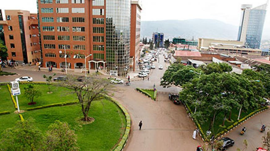 Downtown Kigali. Rwanda has seen tremendous development over the last few years.  The New Times / File.