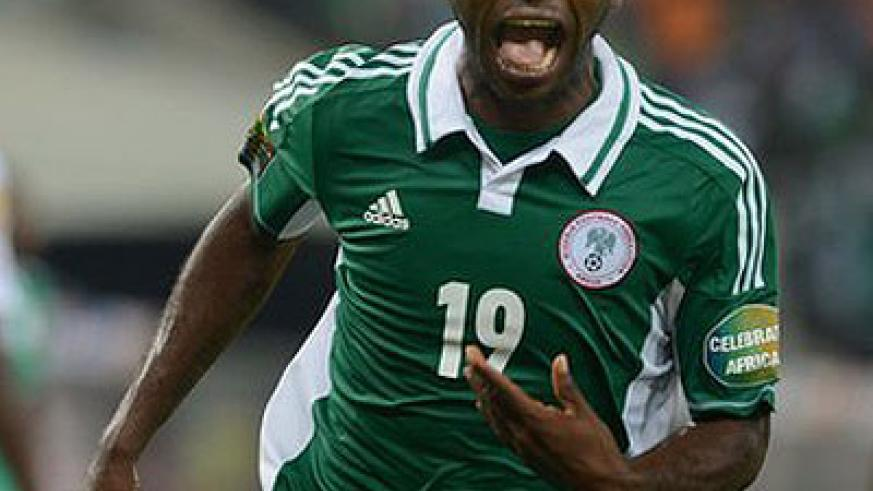 Sunday Mba scored Nigeria's winning goal against Burkina Faso in the final of Africa Cup of Nations. Net photo.