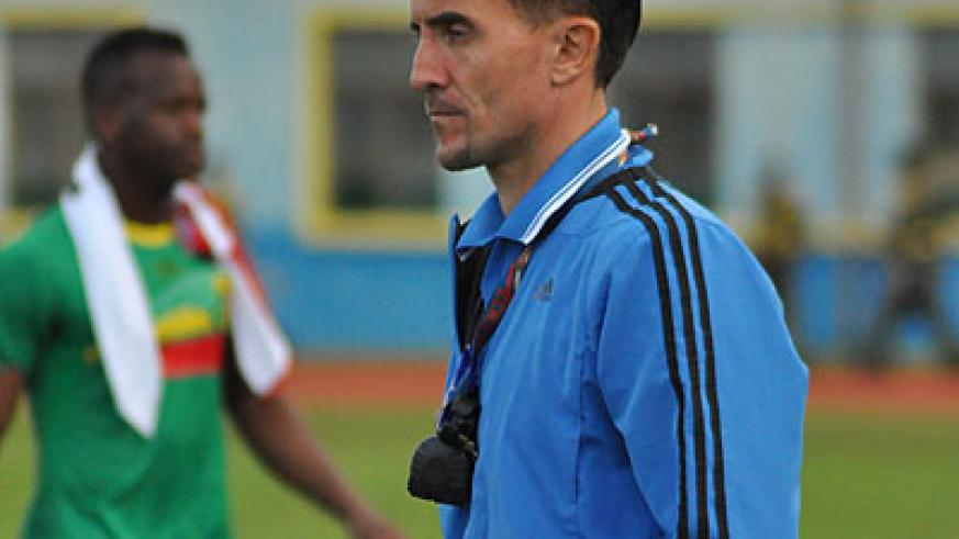 NOT WALKING AWAY; Micho is determined to see out his contract which expires in seven month's time. The New Times / Plaisir Muzogeye.