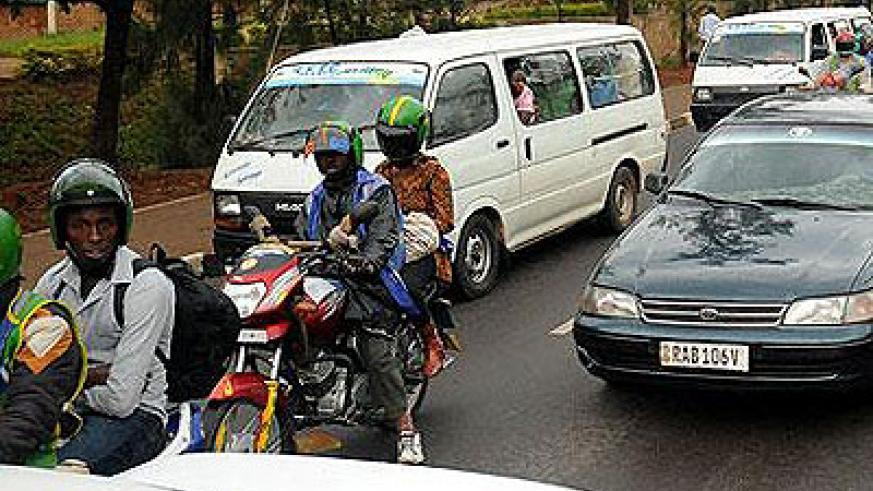 Most drivers usually don't value the importance of zebra crossing along the way. The New Times/File.