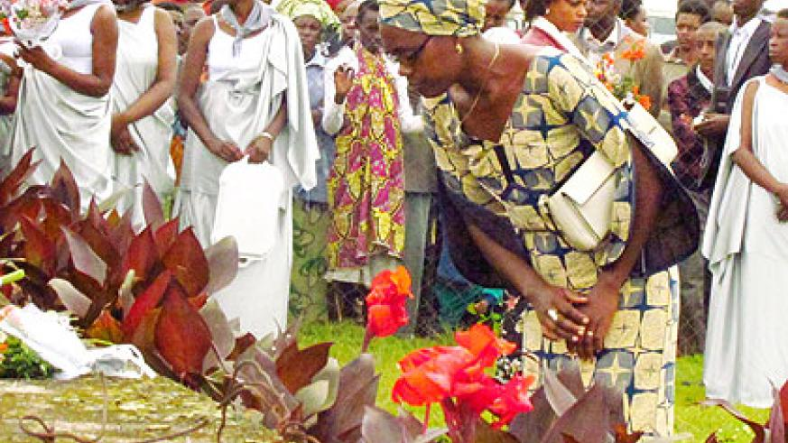 Mourners pay tribute to Genocide Victims buried at Kibeho memorial site last sunday. Residents have said reconciliation efforts are yielding positive fruits for the population.   The N....