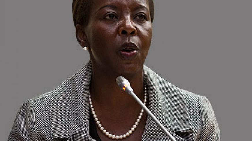 Mushikiwabo chaired the meeting.  The New Times/File.