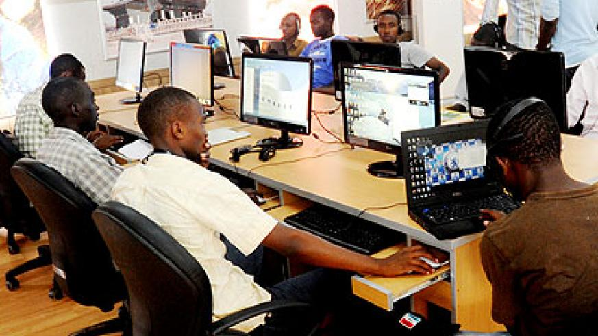 Students use the Internet in a computer lab. The ICT Bill seeks to boost the country's efforts to compete in information technology globally.   The New Times/ John Mbanda.