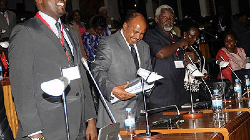 EALA members during the opening session in Kigali. The New Times/ John Mbanda.