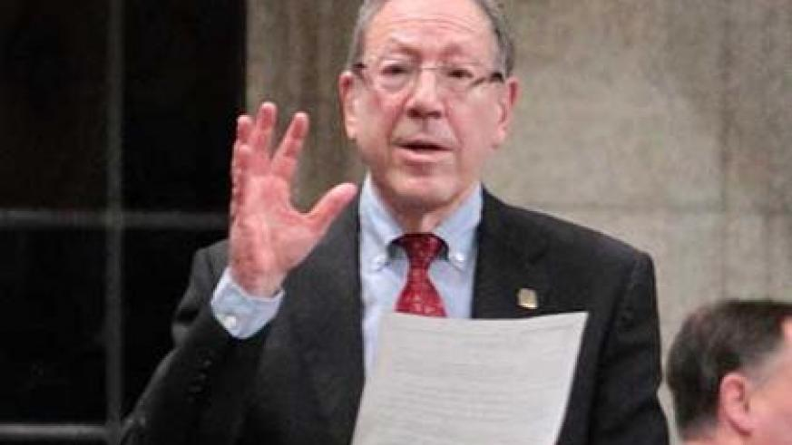 Prof. Cotler during a past session in the Canadian Parliament.  The New Times/ Courtsey.