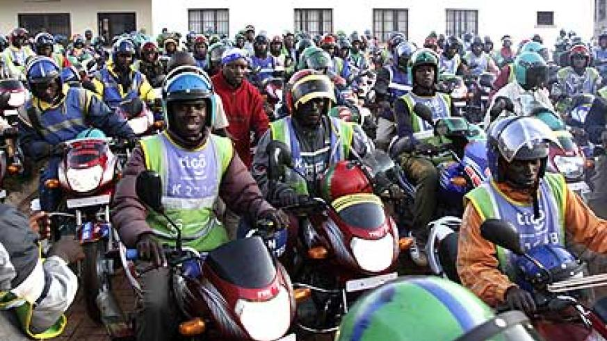 Moto cyclists during a past meeting.  Some of their colleagues are  are wanted over various offences. The New Times/ File.