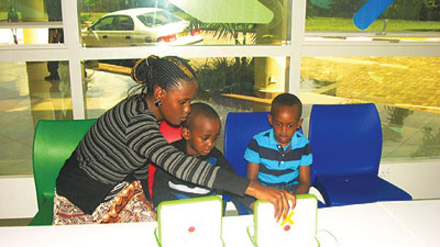 Ishimwe's passion is to give children free computer lessons