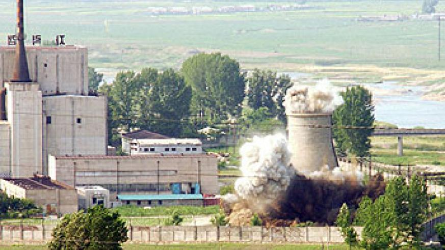 North Korea said in April that it would restart a nuclear reactor at Yongbyon to produce plutonium. Net photo.