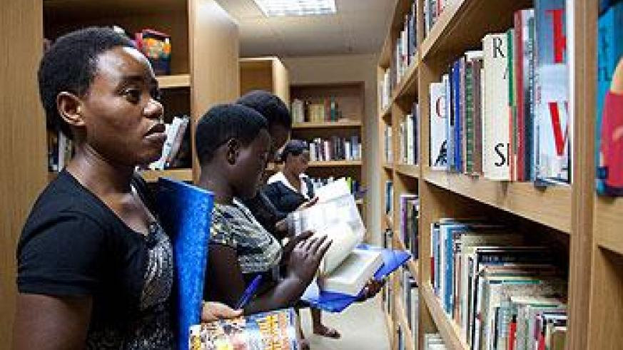 Students in the Kigali Public Library. The Sunday Times / T. Kisambira.