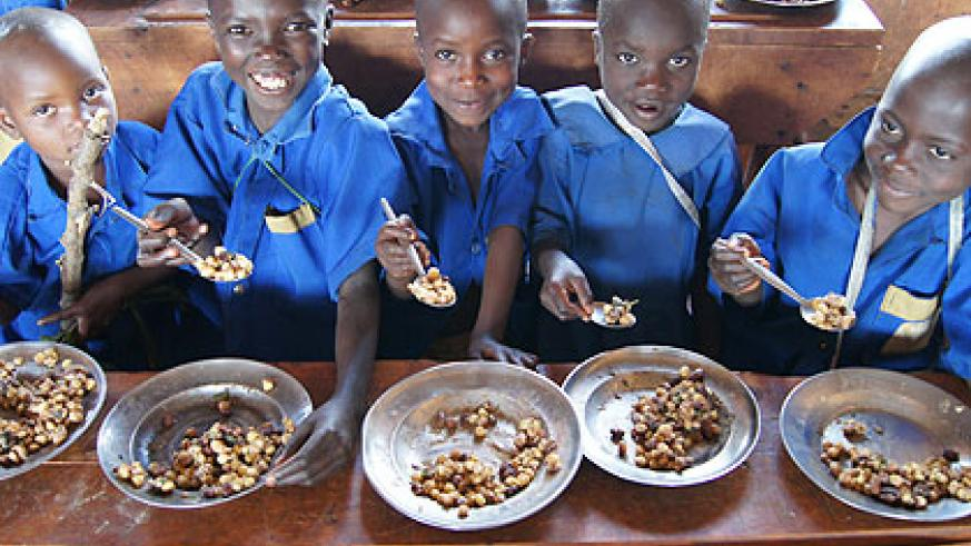 Plans are underway to have the school feeding programme introduced in all schools across the country. The New Times/File.